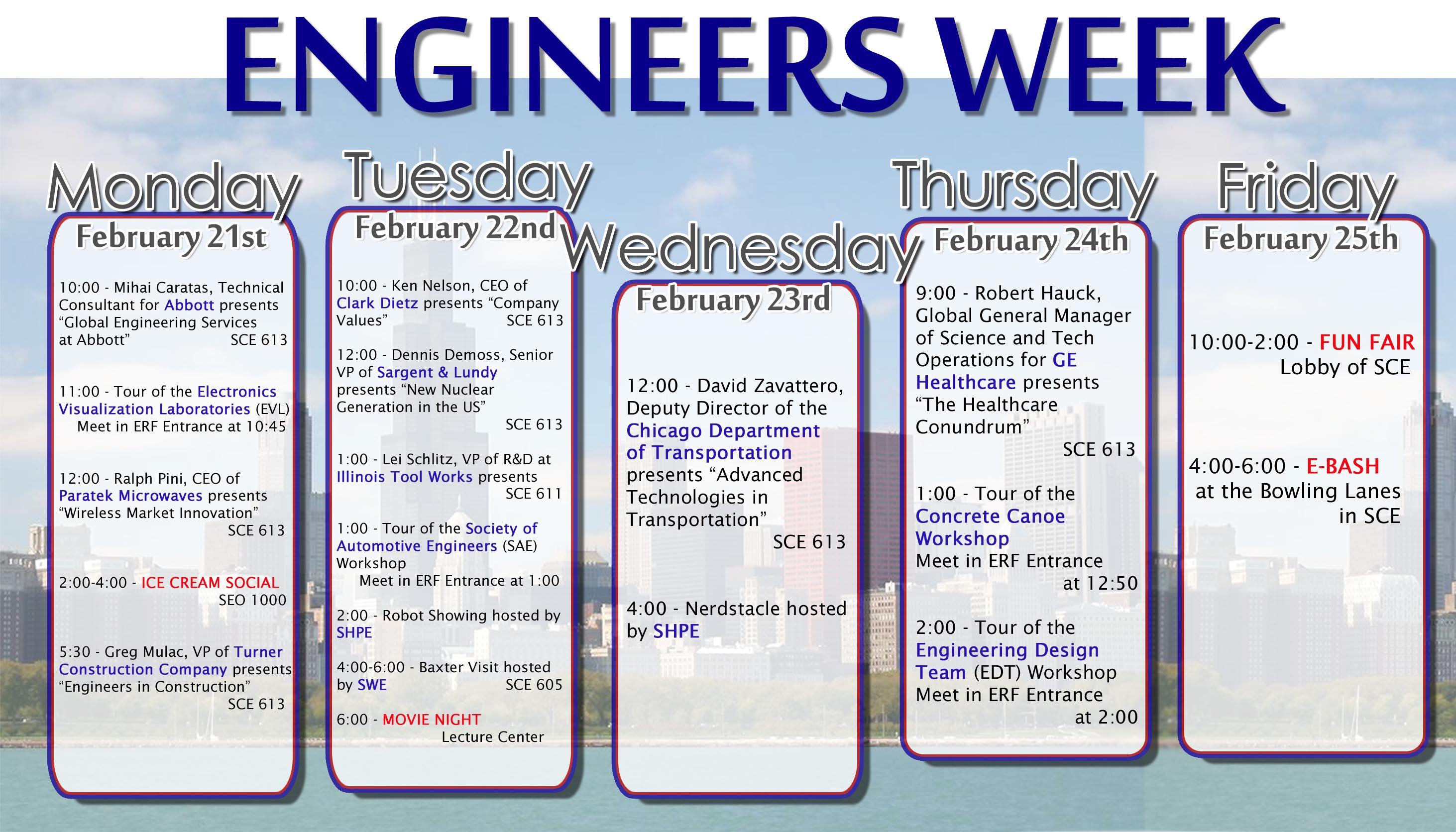 EWeek Schedule